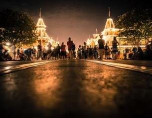 magic kingdom night photo