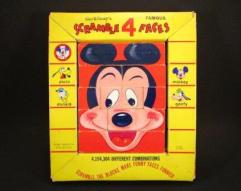 1960's Disney Scramble 4 Faces Game
