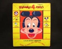 1960's Disney Scramble 4 Faces Game
