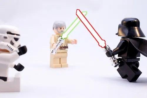 obi wan darth vader lego