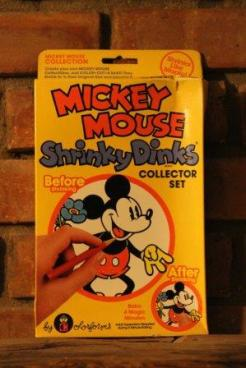 Mickey Mouse Shrinky Dinks from 1980's