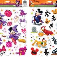 Disney Mickey & Minnie Halloween Window Cling Set