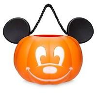 Disney Mickey Mouse Pumpkin Light Up Halloween Trick or Treat Candy Bucket