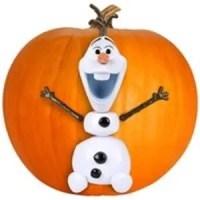 Disney Frozen Olaf Pumpkin Push In