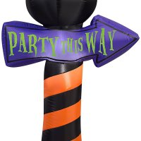 Inflatable Mickey Mouse Ears Halloween Sign