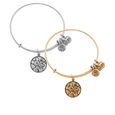 Mickey Mouse and Pluto Bangle by Alex and Ani