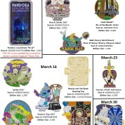 Disney Unveils New Disney Park Pins for March 2017
