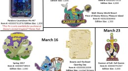 New Disney Park Pins Disney World March 2017