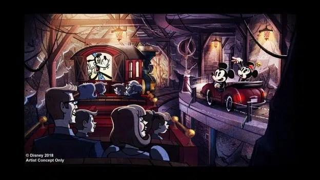 Mickey & Minnie's Runaway Railway ride