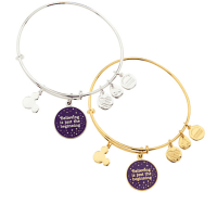 Tinker Bell ''Believing is just the beginning'' Bangle by Alex and Ani | Disney Jewelry