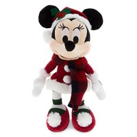 Santa Minnie Mouse Stuffed Animal Retro Plush - 9''