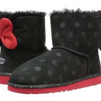 UGG Kids Minnie Mouse Sweetie Bow Black (Big Kid)