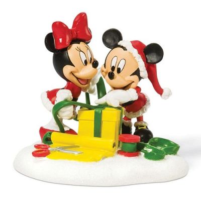 Disney's Mickey & Minnie Mouse Wrapping Gifts Christmas Decoration