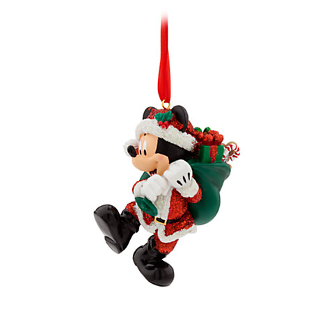 santa mickey mouse christmas ornament - Mickey Mouse Christmas Ornaments