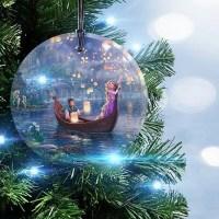 Disney Tangled Glass Christmas Ornament