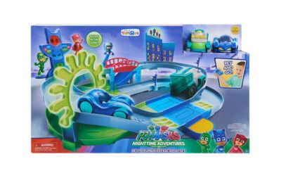 PJ Masks Nighttime Adventures Rev-N-Rumblers Track Playset