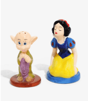 Snow White & Dopey Salt & Pepper Shakers