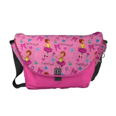 Fancy Nancy Courier Bag | Magnifique Pink Pattern