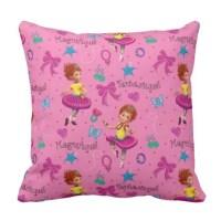 Fancy Nancy Throw Pillow | Magnifique Pink Pattern