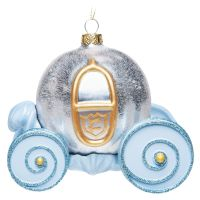 Cinderella Pumpkin Carriage Glass Christmas Ornament