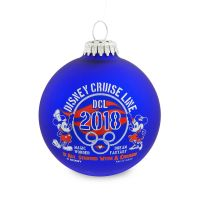 Disney Cruise Line 2018 Glass Ornament
