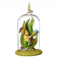 Jiminy Cricket Glass Dome Sketchbook Christmas Ornament