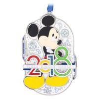 Mickey Mouse Metal Christmas Ornament 2018