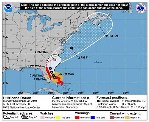 hurricane dorian disney world closures