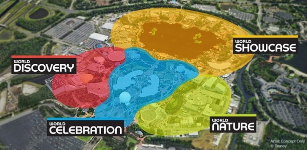 Epcot changes map