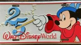 Walt Disney World 25th Anniversary Metal License Plate - 1996