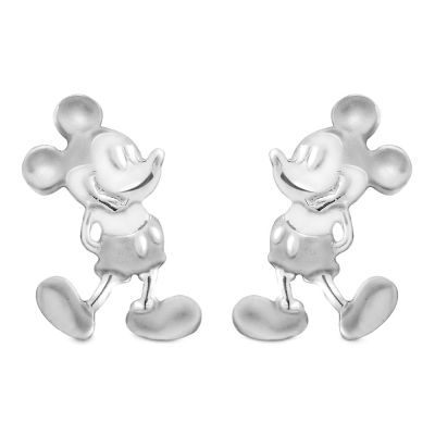 Mickey Mouse Sterling Silver Post Earrings
