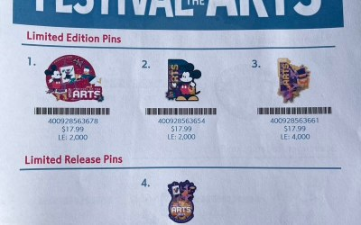 Festival of the Arts Pins 2021