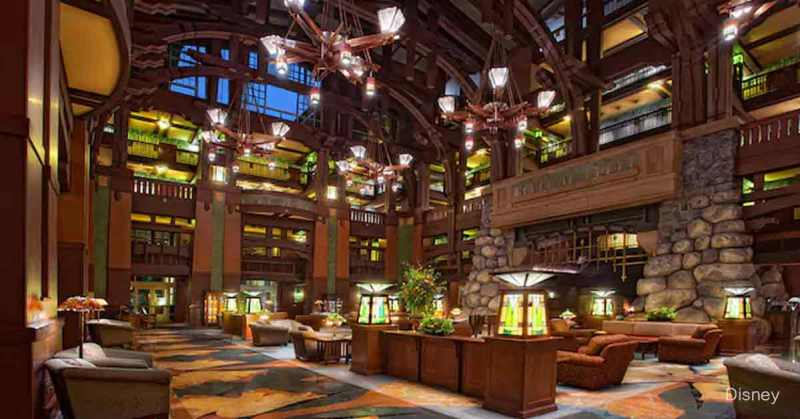 Lobby of Disney's Grand Californian Hotel & Spa