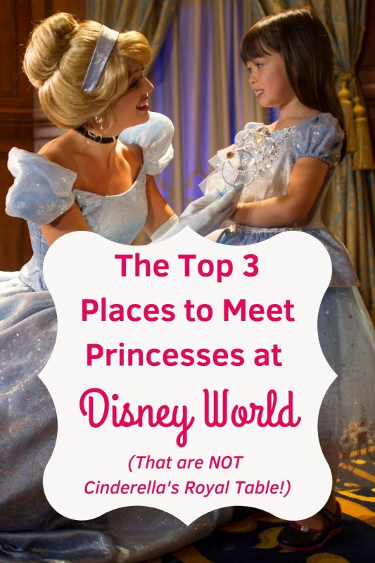 A Princess Meet is a MUST for any true Disney fan. Learn our Top 3 Favorite Places to Meet the Princesses that are NOT Cinderella's Royal Table! #disneyworld #waltdisneyworld #disneyprincess #disneyworldcharactermeet #disneycharactermeals