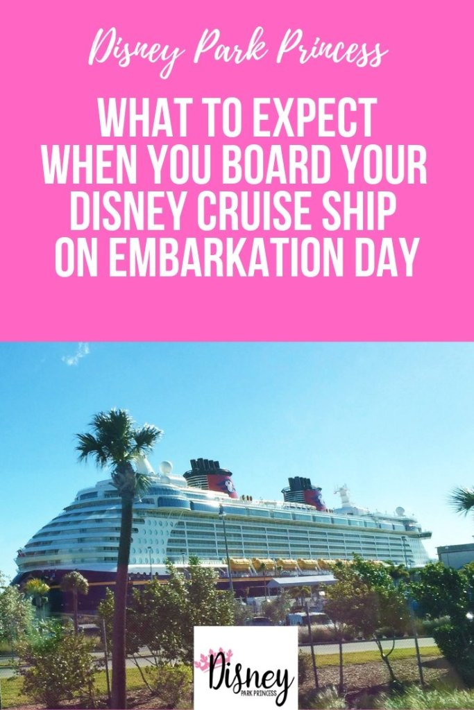 What to Expect When You Board Your Disney Cruise Line Ship in Embarkation Day #disneycruise #disneycruiseline #embarkationday