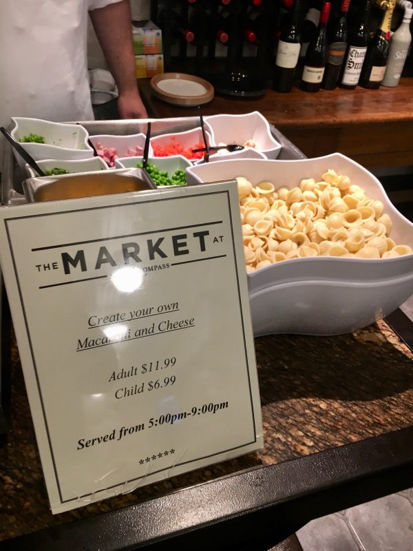 Make Your Own Mac and Cheese station at The Market at Ale & Compass