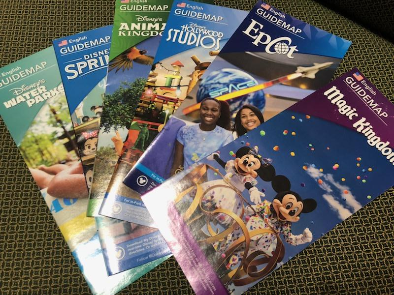 Walt Disney World Park Maps for First Visit