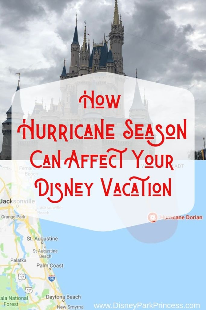 Hurricane Season can disrupt the most carefully planned Disney vacation! Learn what happens if a hurricane will affect your trip to Walt Disney World, Disneyland, or on the Disney Cruise Line! #hurricaneseason #travel #disneyworld #disneycruise