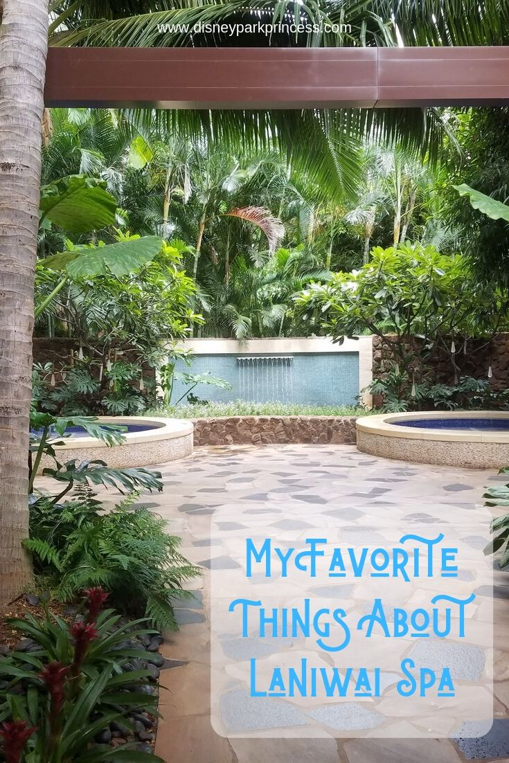 The Laniwai Spa at Disney's Aulani Resort is the perfect place to relax and spoil yourself! Read on to find out some of my favorite things about the spa. #aulani #disneyaulani #spa #hawaii #oahu #laniwai