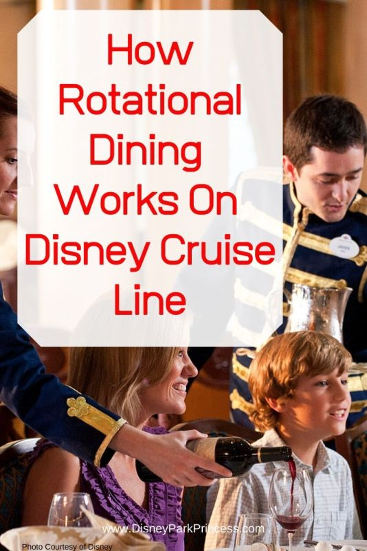 Rotational Dining on Disney Cruise Line is unique in the cruise industry! Guests get the chance to enjoy a different dining experience each night. Learn more on Disney Park Princess! #disneycruise #disneycruisedining #rotationaldining #dcl #disneycruiseline