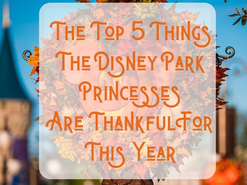 The Top 5 Things the Disney Park Princesses Are Thankful For This Year