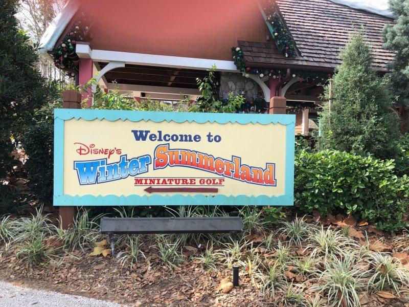 Winter Summerland Mini Golf Walt Disney World