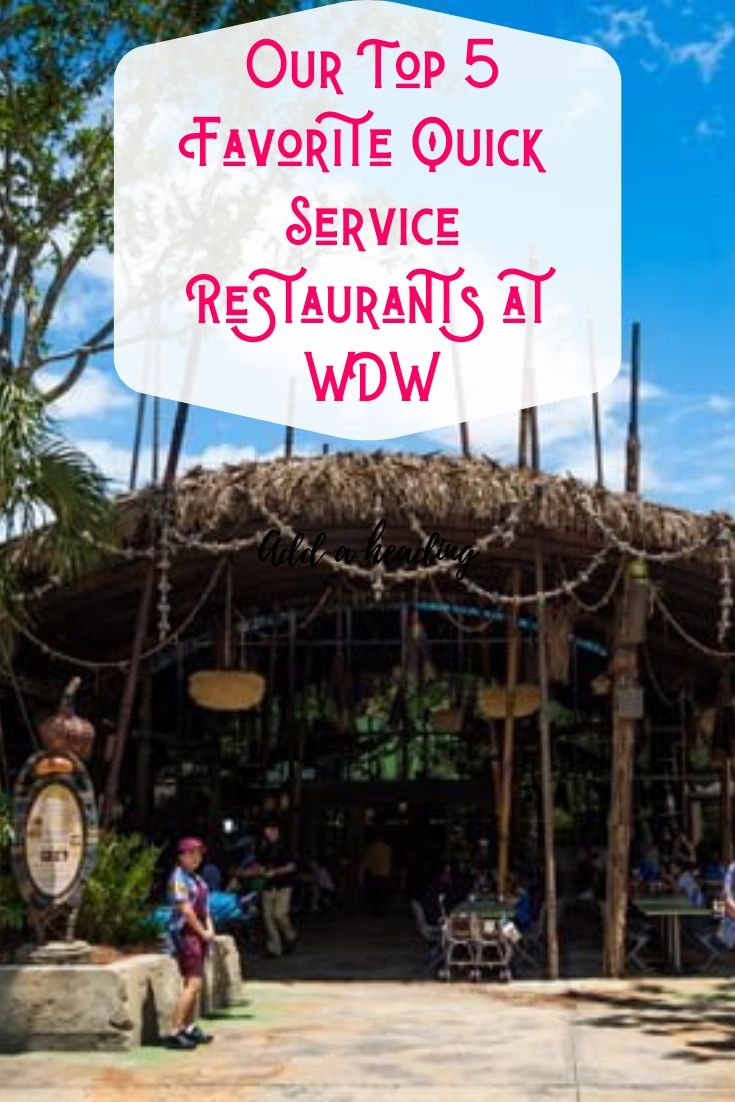 Sometimes you just want to grab a quick bite between rides, amiright? Learn where to find our Top 5 Favorite Quick Service locations at Walt Disney World! #disneyworld #waltdisneyworld #quickservice #disneydining