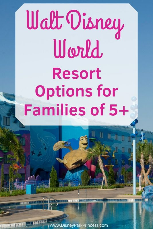 Do you have a family of 5 or more? Walt Disney World has options to accommodate you! From Family Suites to Deluxe Resorts, there is something for every family. #walrdisneyworld #wdw #disneyworld #largefamilies #familysuite #familytravel