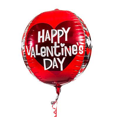 """Happy Valentine's Day 16"""" Orbz™ Balloon"""