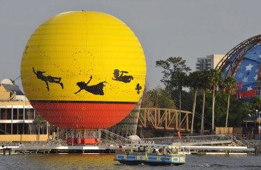 Disney characters in flight