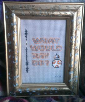 What would Rey do? Cross stitch