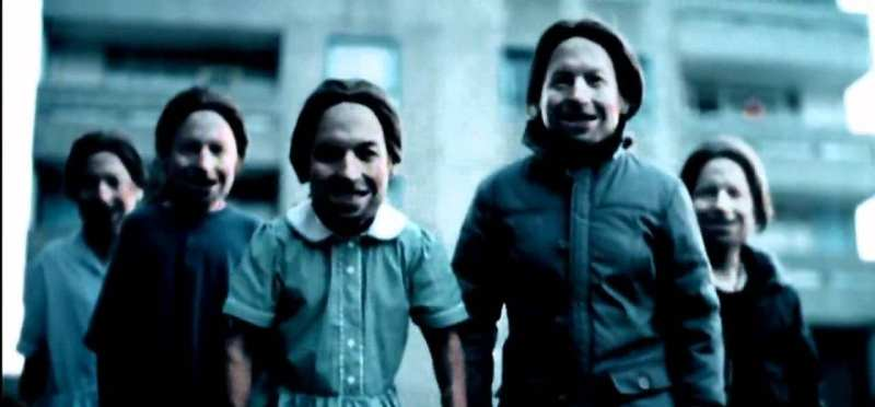 Come to Daddy Aphex Twin video with lots of child Aphex Twins grinning