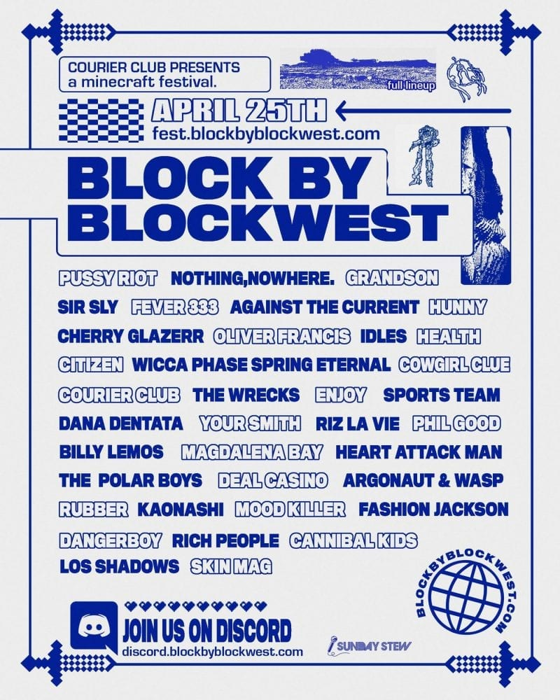 block by blockwest festival line-up