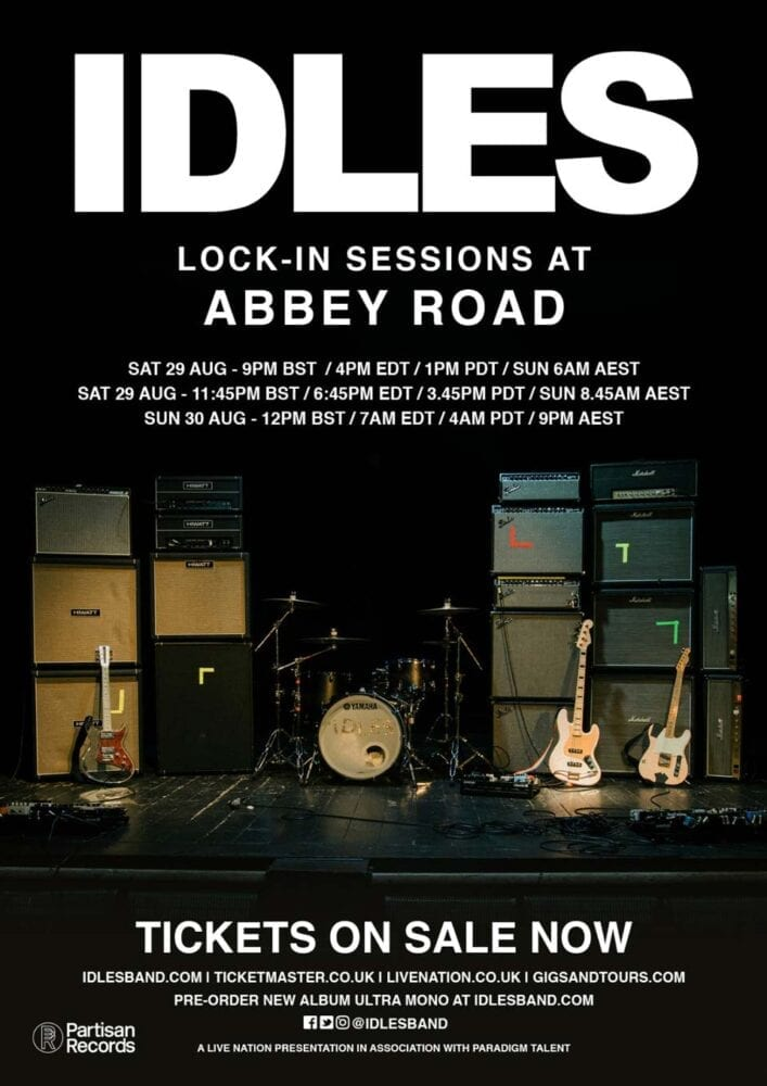 IDLES Abbey Road Live Stream Poster